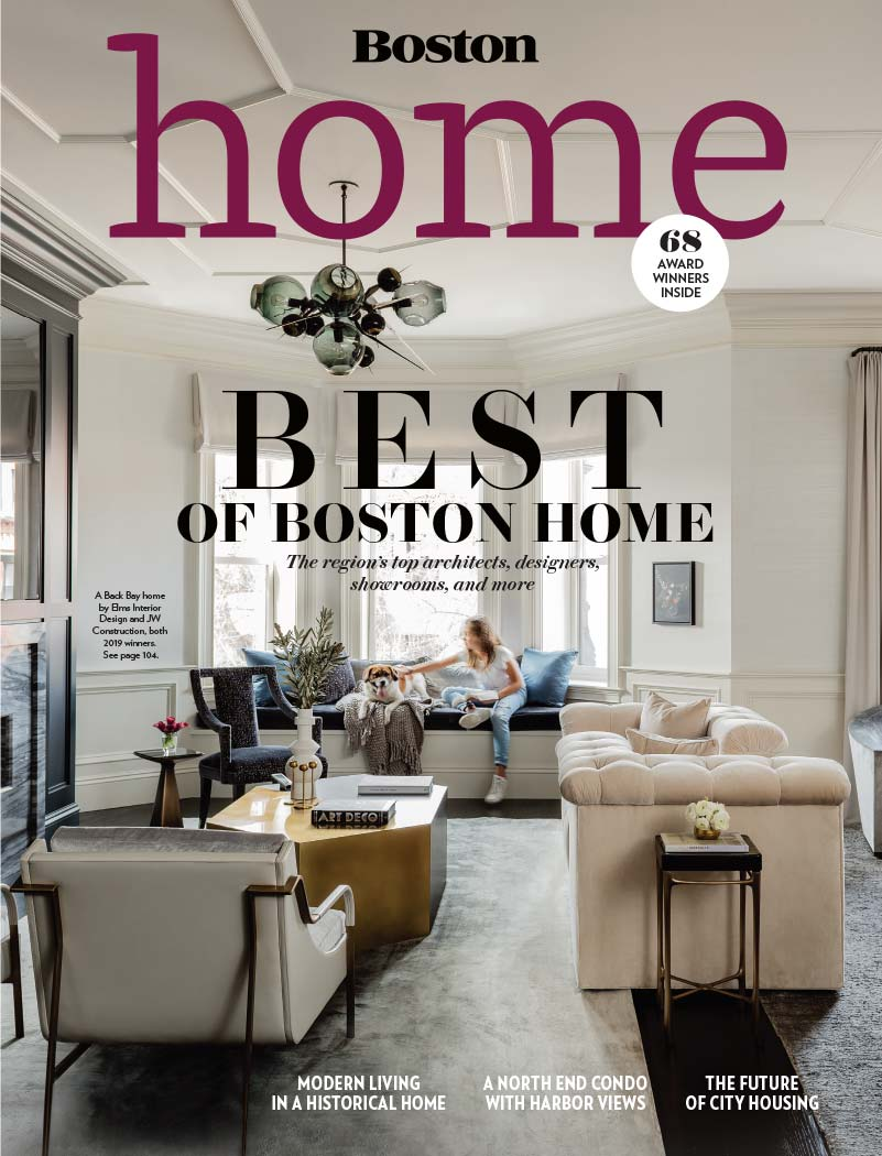 "Elms Interior Design awarded ""Best Transitional Interior Designer"" by Boston Magazine's Best of Boston® Home, Winter 2019"