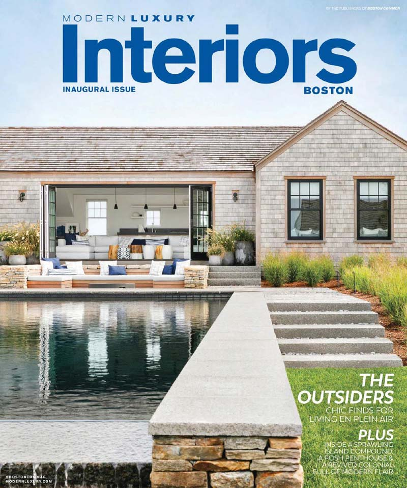 Elms Interior Design featured in the Spring 2018 Inaugural Issue of Modern Luxury Interiors Boston