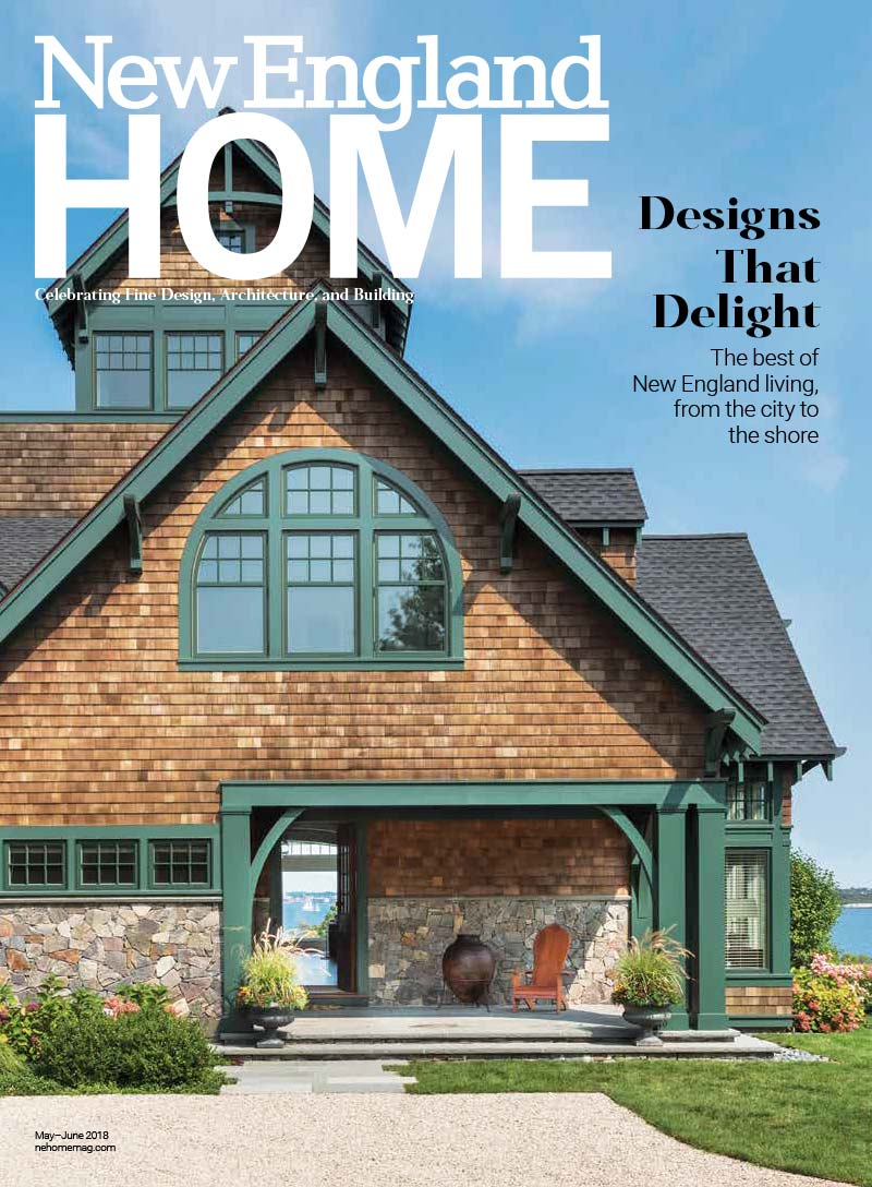 Elms Interior Design featured in the May/June 2018 issue of New England Home