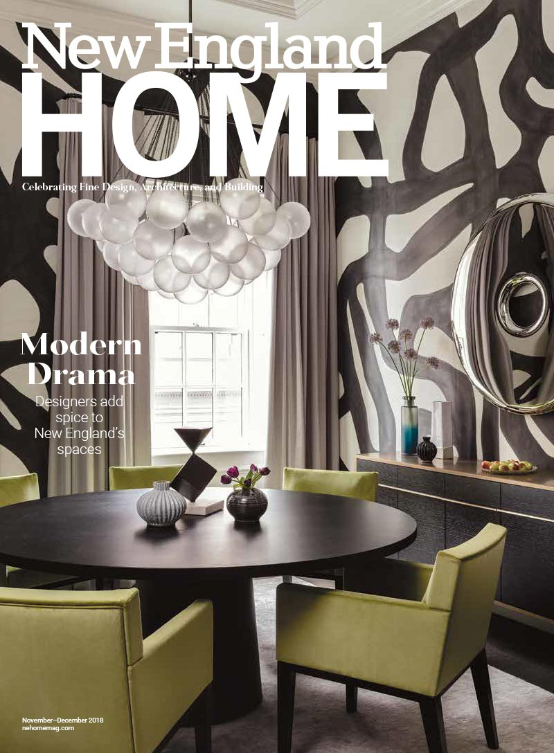 Elms Interior Design featured in November/December 2018 issue of New England Home